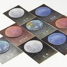 Lonely Sedna Neptune Planet Stickers Round Shape Memo Pad Sticky Notes Bookmarks