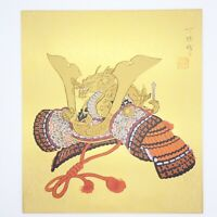 Japanese painting Colored paper Vintage Design KABUTO May pattern
