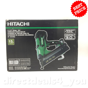 "New Hitachi NT1865DMA 2-1/2"" 18V Lithium Ion 15Ga Angled Cordless Finish Nailer"