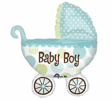 """31"""" It's A Boy Baby Buggy Shaped Mylar Foil Balloon for Baby Shower        #1064"""