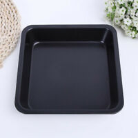 Nonstick Square Bakeware Kitchen Baking Toast Pan Durable Steel 8inch Black