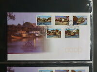 2003 AUSTRALIA MURRAY RIVER SHIPPING SET 5 STAMPS FDC FIRST DAY COVER P&S