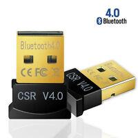 Mini USB Bluetooth CSR 4.0 Dual Mode Dongle Wireless Adapter Win 7 8 10 XP Vista