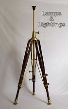 WOODEN RETRO TRIPOD STUDIO FLOOR LAMP UK LIGHT FOR HOME DECOR