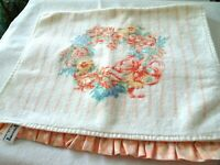 Vintage Cecil Saydah Co (CSC) Hand Towel-Thirsty Terry Cloth-Peach Colored Trim