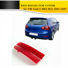 2Pcs Rear Bumper Tail Red Reflectors Cover Fit for VW Golf 5 MK5 R32 2006-2009