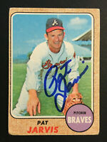 Pat Jarvis Braves signed 1968 Topps baseball card #134 Auto Autograph 1