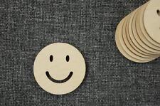 10 Stk  Smile Kreis Form Holz Zirkel Dekration Basteln Kreativ Malen /Pw-69/