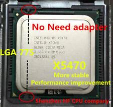 Intel Xeon  LGA 775 mainboard no need adapter)  X5470 SLBBF