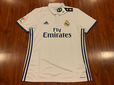 2016-17 Adidas Real Madrid Men's Home Soccer Jersey Large L La Liga