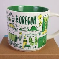 Starbucks OREGON You Are Here 2018 Ltd BEEN THERE Ceramic Coffee Cup 14 oz Mug