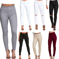 DIVADAMES NEW WOMENS HIGH WAISTED STRETCHY SKINNY JEANS LADIES JEGGINGS PANTS