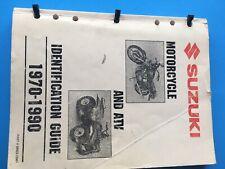 1970 - 1996 Suzuki Motorcycle ATV Model ID Guide Identification