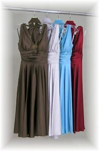 Formal Dresses Bridesmaid Wedding Prom Brown or Silver Size X-Small XS #6007