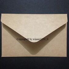 20 Premium Quality Kraft Recycled BROWN 11B Envelopes CARDMAKING RSVP 125gsm