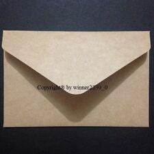 20 Premium Quality Kraft Recycled BROWN 11B Envelopes CARDMAKING RSVP 125gsm