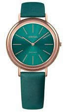 Jowissa Alto Swiss Made Green Dial Rose Gold Tone Satin Women's Watch J4.316.M