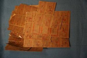 Original Vintage 1958 Topps Baseball Card Blank Front Sheets Poor Condition Lot
