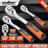 """1/4"""" 3/8"""" 1/2"""" Drive Ratchet Socket Wrench Handle 72 Tooth Quick-Release Spanner"""