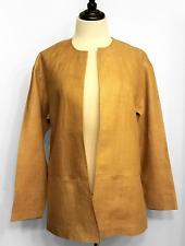 Ellen Tracy Womens Linen Jacket Carmel Open Front Unlined Lightweight Size 4 NEW