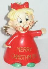Vintage Kreiss Christmas Bell Merry Christhmuth Freckle Face Angel