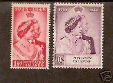 PITCAIRN ISLAND 1949 KGVI ROYAL SILVER WEDDING 2v MINT