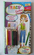 Trace Art Fashion Design Set 1 - Trace, Design, Color - Colored Pencils incl.