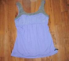 LULULEMON SUNSET TANK grapeseed AND GREY WEE ARE FROM SPACE SIZE 8 wafs drawcord