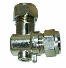 15mm Angled Isolating Valve Compression 90Degree Elbow