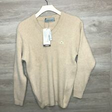 Monte Carlo Mens Large Pullover Sweater Kid Angora Pullover NEW Beige