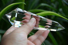 Tibet Himalayan 99% Clear 13 Side Crystal Point Quartz Vogel Wand 4.96 in Reiki