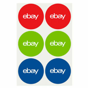 "48 Stickers Classic Round eBay Classic Branded Stickers 3""X3""Shipping Packaging"