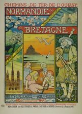 NORMANDY AND BRITTANY, FRANCE, French Travel Poster 250gsm A3 Print