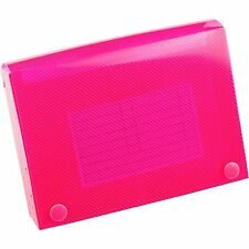"""Esposti Record Card Holder In Pink Holds 150 Cards (6"""" X 4"""") *BRAND NEW*"""