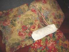 CROSCILL ARIA RED GOLD GREEN FLORAL (4PC) KING COMFORTER SET