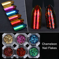 Chameleon Nail Glitter Sequins Paillette Nail Art Flakies Powder DIY Born Pretty