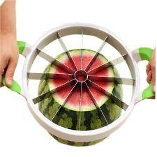 Large Water Melon Cantaloupe Fruit Slicer Corer - 28cm - Pink or Green Handles