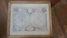 """Nicolas De Fer: """" Planispheres Celeste Par Mr. de la Hire""""  1705 Celestial chart"""