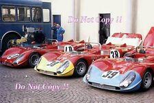 Autodelta Alfa Romeo T33/3 Team Paddock Monza 1000 km de 1970 fotografía