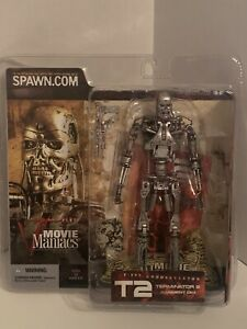 """2002 Terminator 2 T-800 Endoskeleton Action Figure T2 Series 5 Movie Maniacs 7"""""""