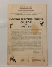 Vintage 1961 New York State Hunting Trapping Fishing Guide 28 pages Rockefeller