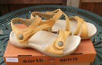 Earth Spirit Jasmine Leather Sandal UK 4 Yellow Brand New In Box