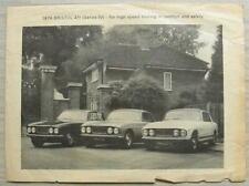 BRISTOL 411 SERIES IV Car Sales Brochure 1974