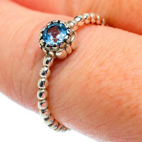 Blue Topaz 925 Sterling Silver Ring Size 8.25 Ana Co Jewelry R38991F
