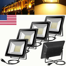 5X 100W Us Plug Led Smd Flood Light Warm White Outdoror Garden Spot Lamp 110V