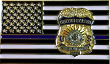 USA POLICE - BLUE STARS and STRIPES FEDERAL  - PIN NEU