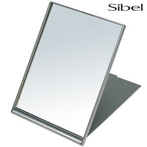 Sibel Professional Silver Folding Shaving Travel Mirror 17 x 13cm Handbag Size