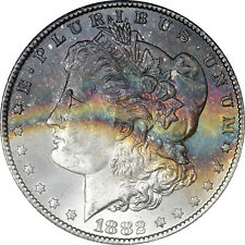 1882-CC GSA GSA NGC MS63+ Plus Rainbow Toned