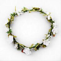 Flower Garland Headband Festival Floral Crown Boho Wedding Bridesmaid Beach
