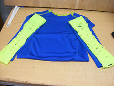WRESTLING BLUE SHIRT YOUTH XS & NEON ARMBANDS W/ FREE JEFF HARDY PICTURE WWE